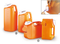 Canisters Uritainer™ (2) with vertical graduation, 2.5 l