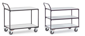 Shelf trolley ESD, 1000 x 600 mm, Number of bases: 2