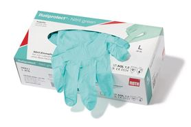 Disposable gloves ROTIPROTECT<sup>&reg;</sup> -Nitrile green, Size: L (8–9)