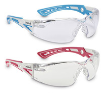 Safety spectacles RUSH+ SMALL, White, Light blue, RUSHPSPSI