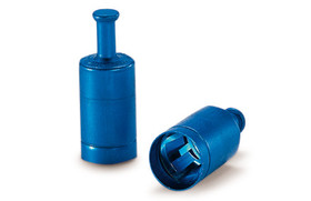 Screw caps LABOCAP with grip for Ø 17/18 mm, Blue