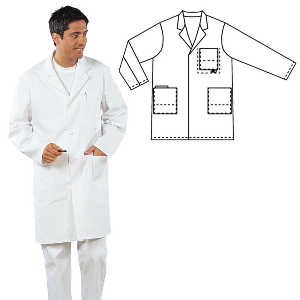 Kumars Blouse de laboratoire unisexe en coton et polyester avec poches Taille L