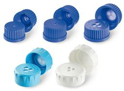 Breather screw caps DURAN<sup>&reg;</sup> with ePTFE membrane, GL 45, Blue