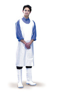 Disposable apron made of PE, White, 145 mm, 35 µm