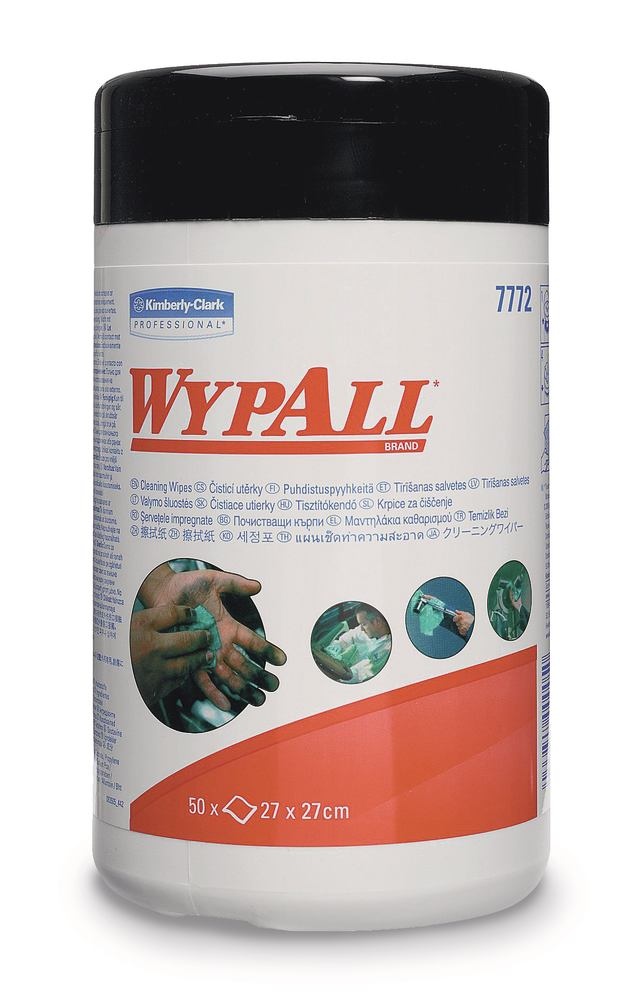 Wipes Wypall<sup>&reg;</sup> , pre-moistened, 1 unit(s), 1 x 50 wipes