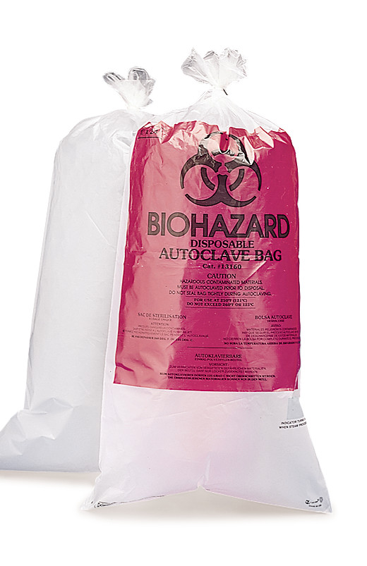Disposal bags BIOHAZARD with indicator patch, 11.5 l, 610 x 300 mm
