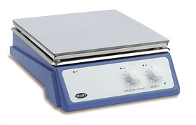 Heater and magnetic stirrer with large CB/SB series hot plate, Aluminium