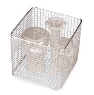 Sterilisation basket ROTILABO<sup>&reg;</sup>, Outer length: 400 mm, 200 mm, Height: 200 mm