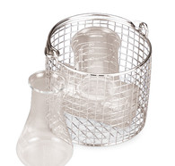 Sterilisation basket ROTILABO<sup>&reg;</sup>, Diameter: 210 mm, Height: 180 mm