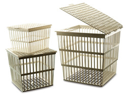 Sterilisation basket, Outer length: 123 mm, 154 mm, Height: 105 mm