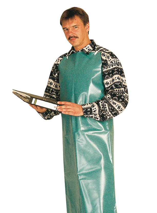 Laboratory and work apron made of PVC