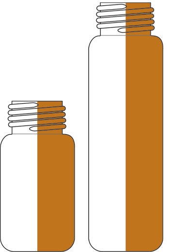 Sample vials ROTILABO<sup>&reg;</sup> with fine thread ND18, Clear glass, 10 ml