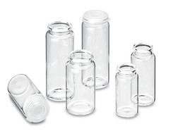 Glass vials with rolled rim ROTILABO<sup>&reg;</sup> ND18/ND22, 15 ml, Height: 48 mm