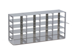 Cryogenic rack Stainless steel wide (for upright freezers), 4 x 4, Height: 219 mm