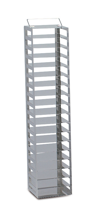 Cryogenic rack Stainless steel tall (for chest freezers), Suitable for: Box height: 50 mm, 1 x 10, Height: 550 mm