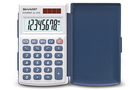 Solar-powered pocket calculator EL-243S