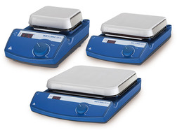C-MAG HP series digital hot plate models with contact thermometer connection, 1000 W, 180 x 180 mm, C-MAG HP 7