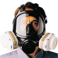 Full-face mask respirator