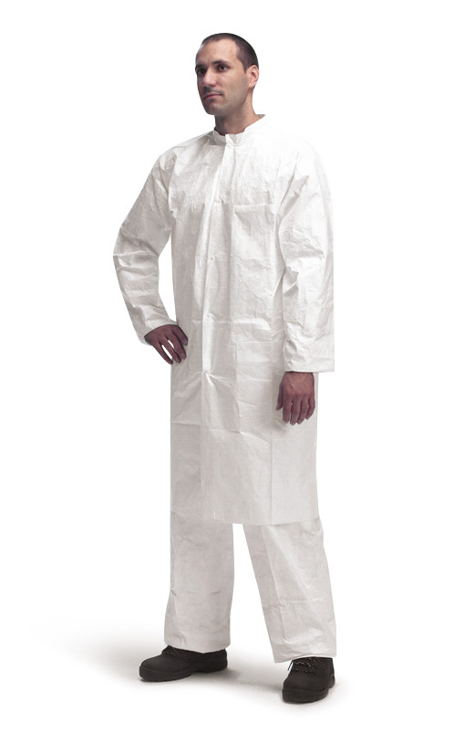 Lab coat TYVEK<sup>&reg;</sup> 500 PL309 model with zip, Size: S