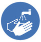 Safety symbols Acc. to ISO 7010, Wash hands, 100 mm