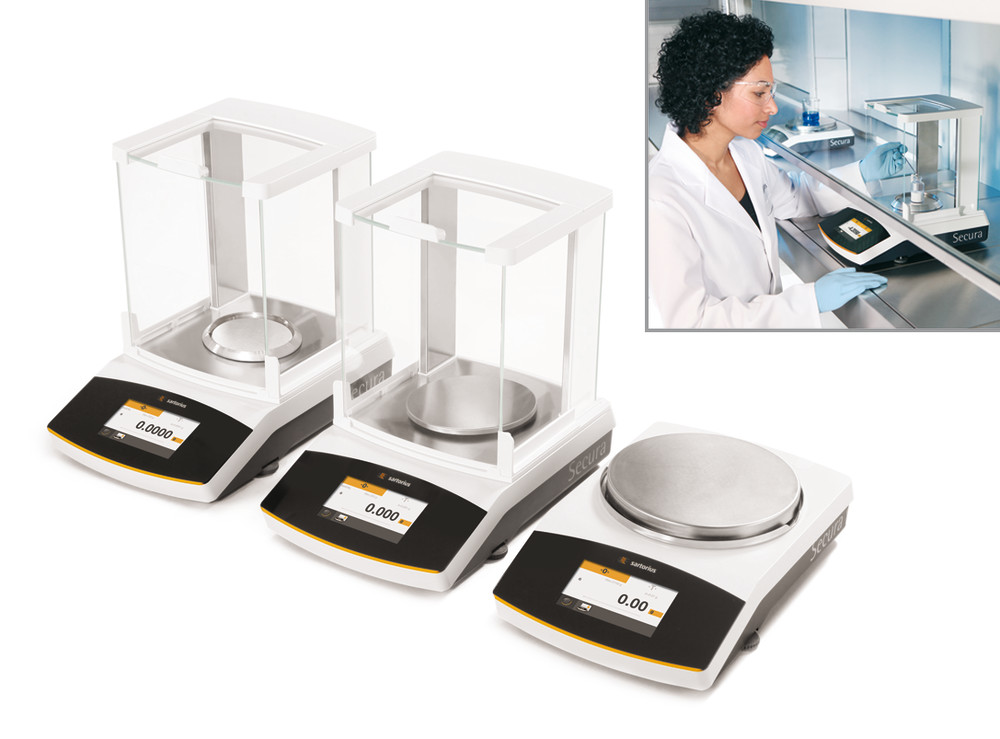 Semi-micro, analytical and precision balances Secura<sup>&reg;</sup> Series Semi-micro balances, models calibrated ex works, 0.00001/0.00001/0.0001 g, 60/120/220 g, 225D-1CEU