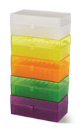 Storage box 50 slots Hinged lid set