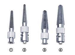 Luer hose connectors made of metal with conical ends, Suitable for: LLF/hose inner Ø 5-9 mm