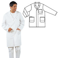 Men's lab coats 100% cotton, Men's size: 52/54