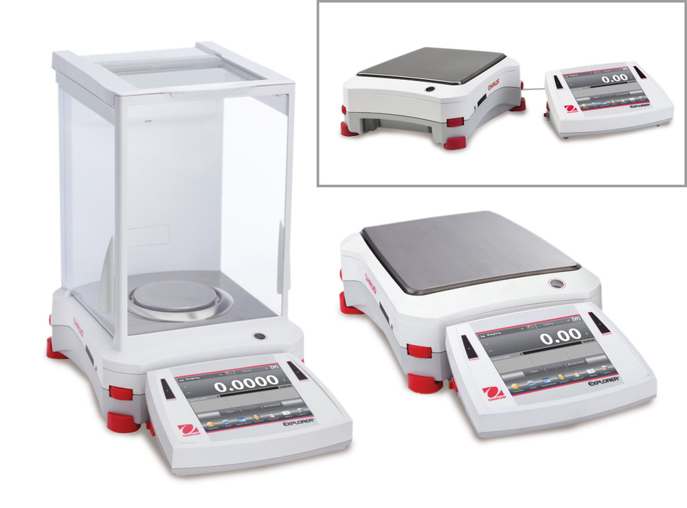 Semi-micro, analytical and precision balances Explorer™ Series Standard models cannot be calibrated, 0,0001 g, 220 g, EX224 (W)
