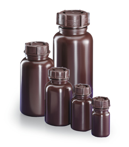 Wide mouth bottle Brown, 50 ml