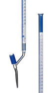 Burette with Schellbach stripes Class AS With a valve stopcock on the side and a PTFE spindle, 25 ml