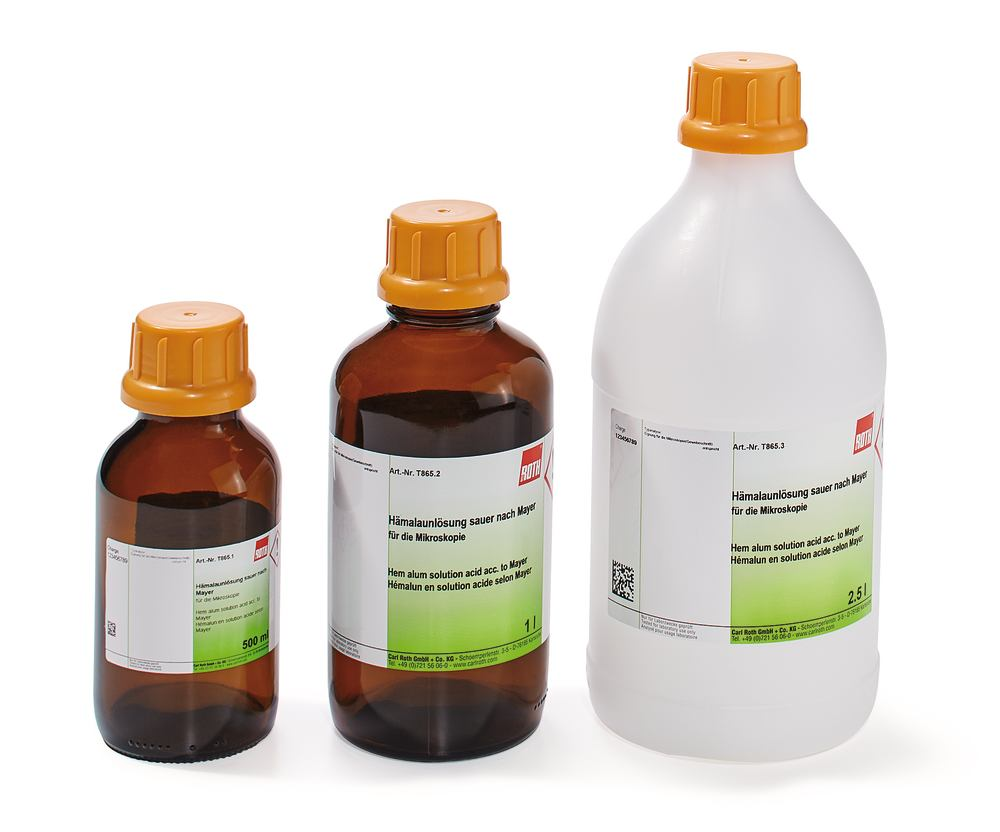 Hemalum solution acid acc. to Mayer, 1 l, glass