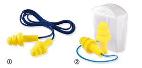 Reusable ear plugs ULTRAFIT, with safety cord, UF01000