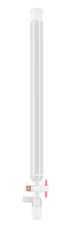 Chromatography columns with frit, ground glass core and GL 18 extraction connection, 35 ml, 15 mm, 200 mm