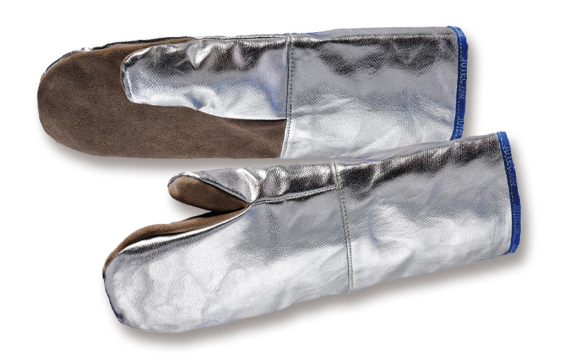 Heat-resistant gloves Leather-aluminium