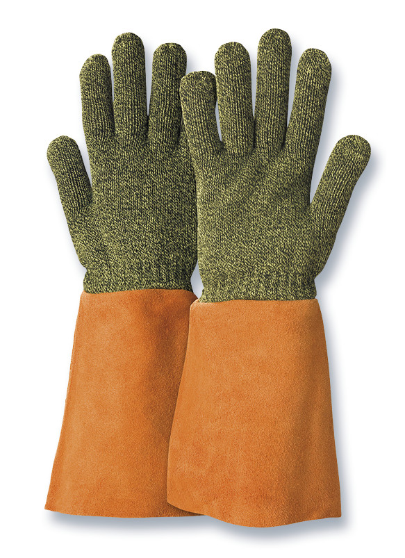 Heat-resistant gloves KarboTECT<sup>&reg;</sup> L954 with leather cuffs, Size: 7