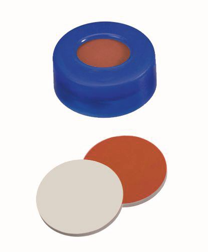 Snap ring caps ROTILABO<sup>&reg;</sup> ND11 soft version, Natural rubber orange red / TEF transparent
