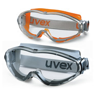 Wide-vision safety spectacles ultrasonic, Grey, Black, 9302-285