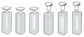 Glass cuvette ROTILABO<sup>&reg;</sup> Quartz glass Seamed lid, 3.5 ml
