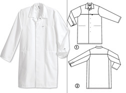 HACCP Unisex lab coat 1673-711, Size: M, Women's size: 40/42, Men's size: 48/50