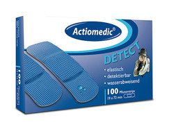 Refill pack Actiomedic<sup>&reg;</sup> Detectable plasters water-repellent, Plaster strips, 72 x 19 mm