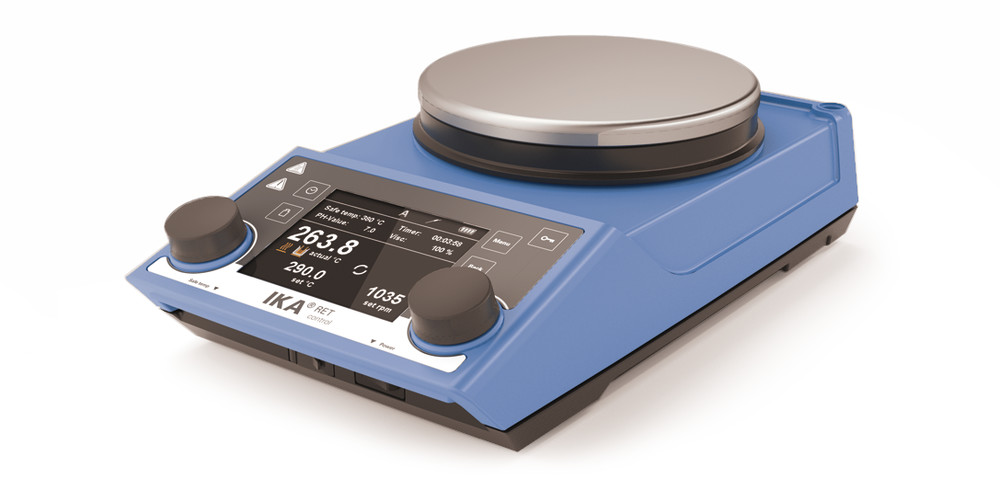 Heater and magnetic stirrer <br/>RET control-visc, with stainless steel hot plate