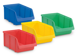 Storage bins, Outer length: 332 mm, Blue