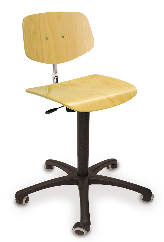 Office chair Standard model Beech, Castors, 420 ­ 620 mm