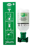 Eye wash station Wall mount with bottle for one eye