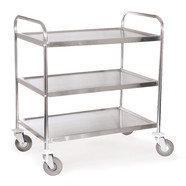 Shelf trolley ROTILABO<sup>&reg;</sup> for self-assembly, Number of bases: 2