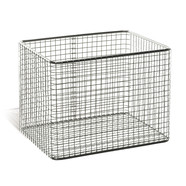 Sterilisation basket square, Outer length: 500 mm, 300 mm, Height: 250 mm